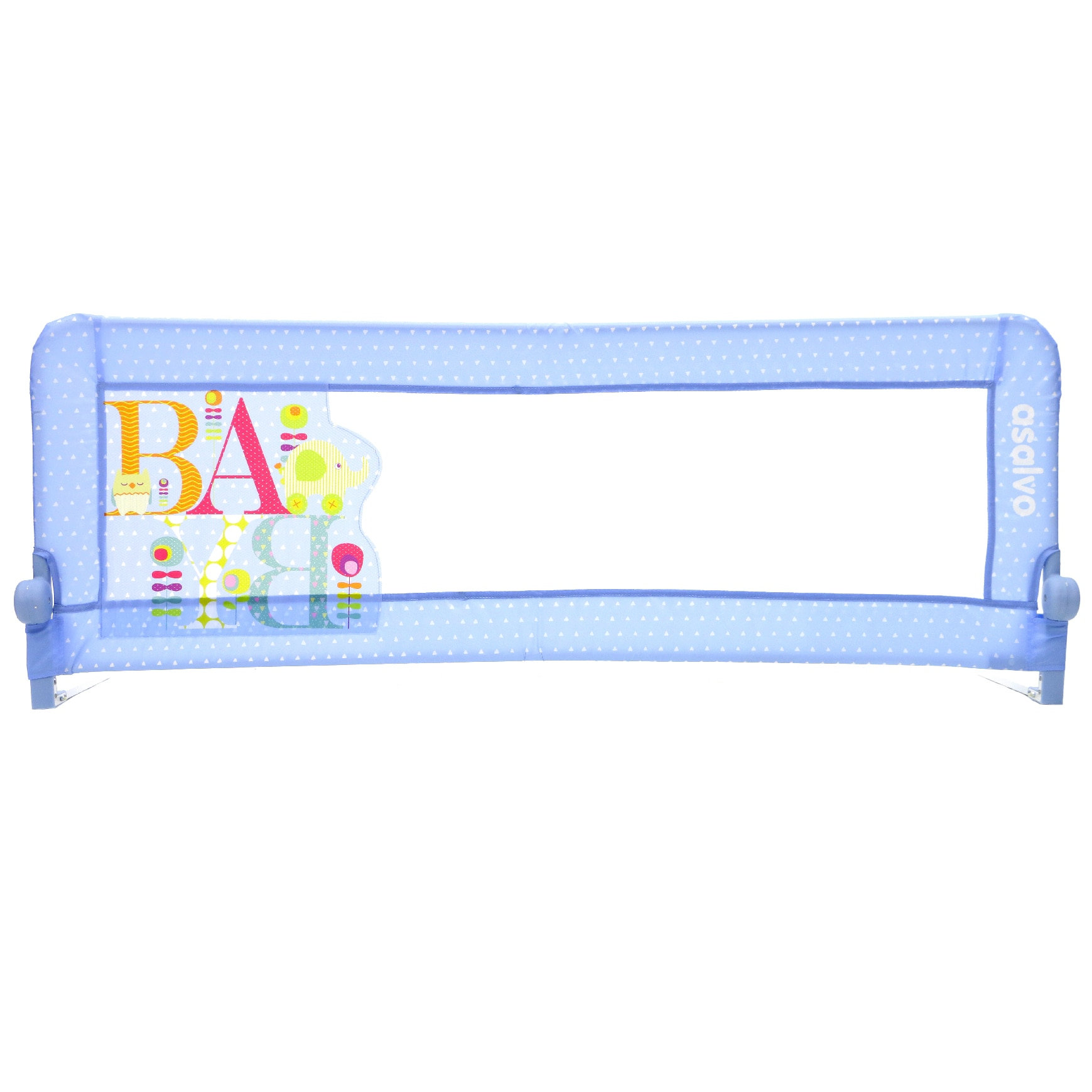 Fotografie Bariera de protectie pat copii 2 in 1 Asalvo Baby Blue, Turcoaz