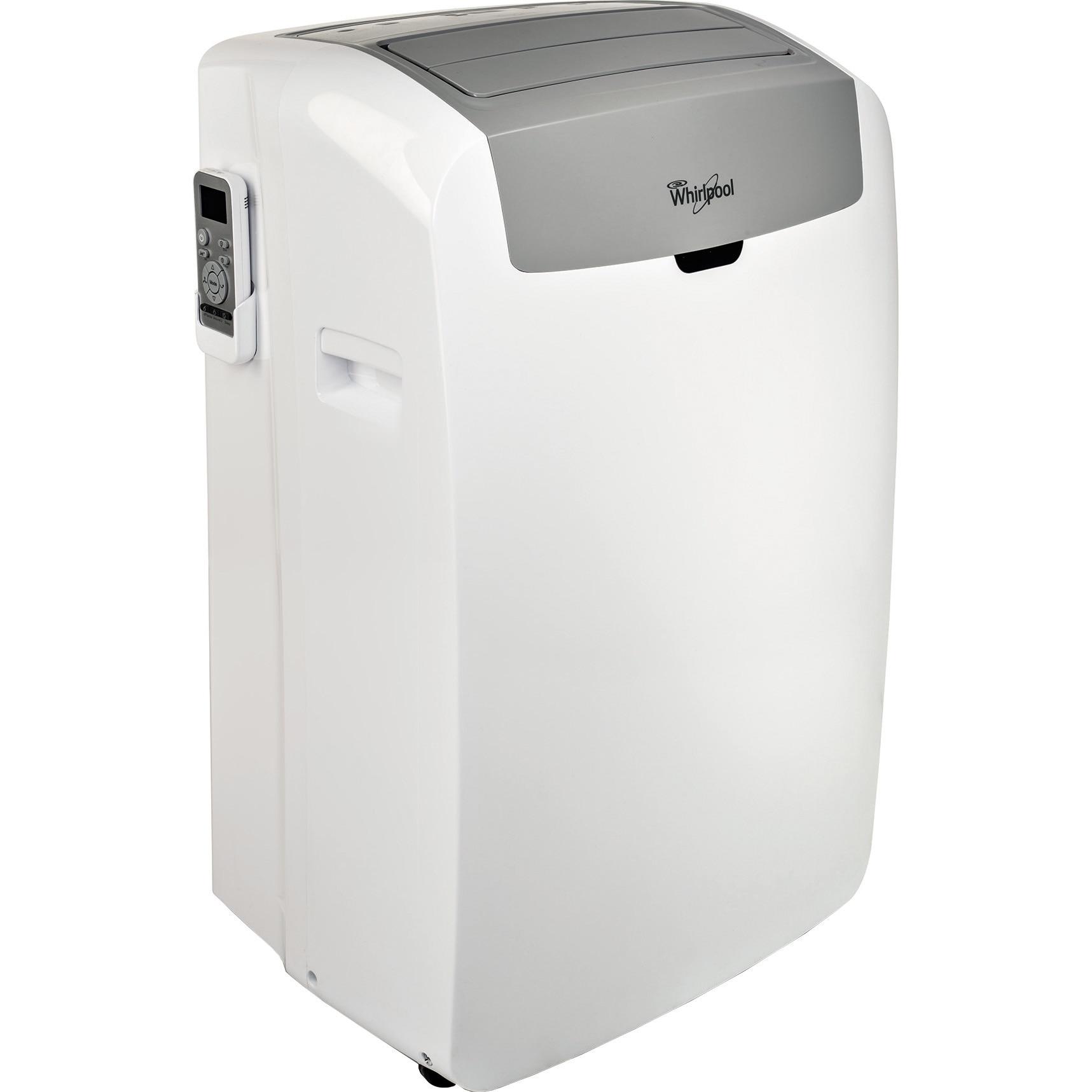 Fotografie Aparat de aer conditionat portabil Whirlpool PACW9COL, 9000 BTU, Clasa A, Filtru lavabil HEPA, Functie JET, Autocuratare, Autorestart, Afisare temperatura, Autodiagnoza