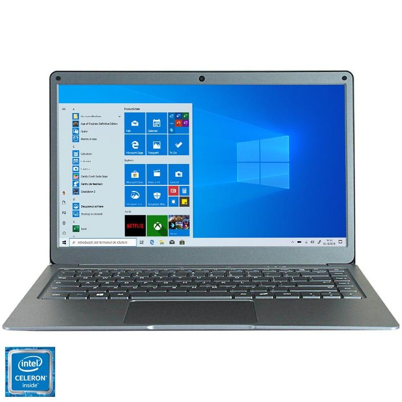 "Fotografie Laptop ultraportabil Jumper EzBook X3 cu procesor Intel Celeron N3450 Quad - Core pana la 2.20 GHz, 13.3"", Full HD, 8GB, 128GB SSD, Intel® HD Graphics 500, Windows 10 Home, Grey"