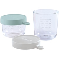 Set 2 recipiente sticla Beaba, 150/250ml, Verde