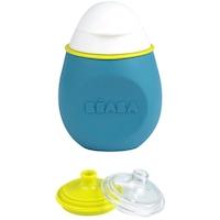 Beaba BabySqueez 2 az 1-ben élelmiszer tároló tartály, 180ml, Kék