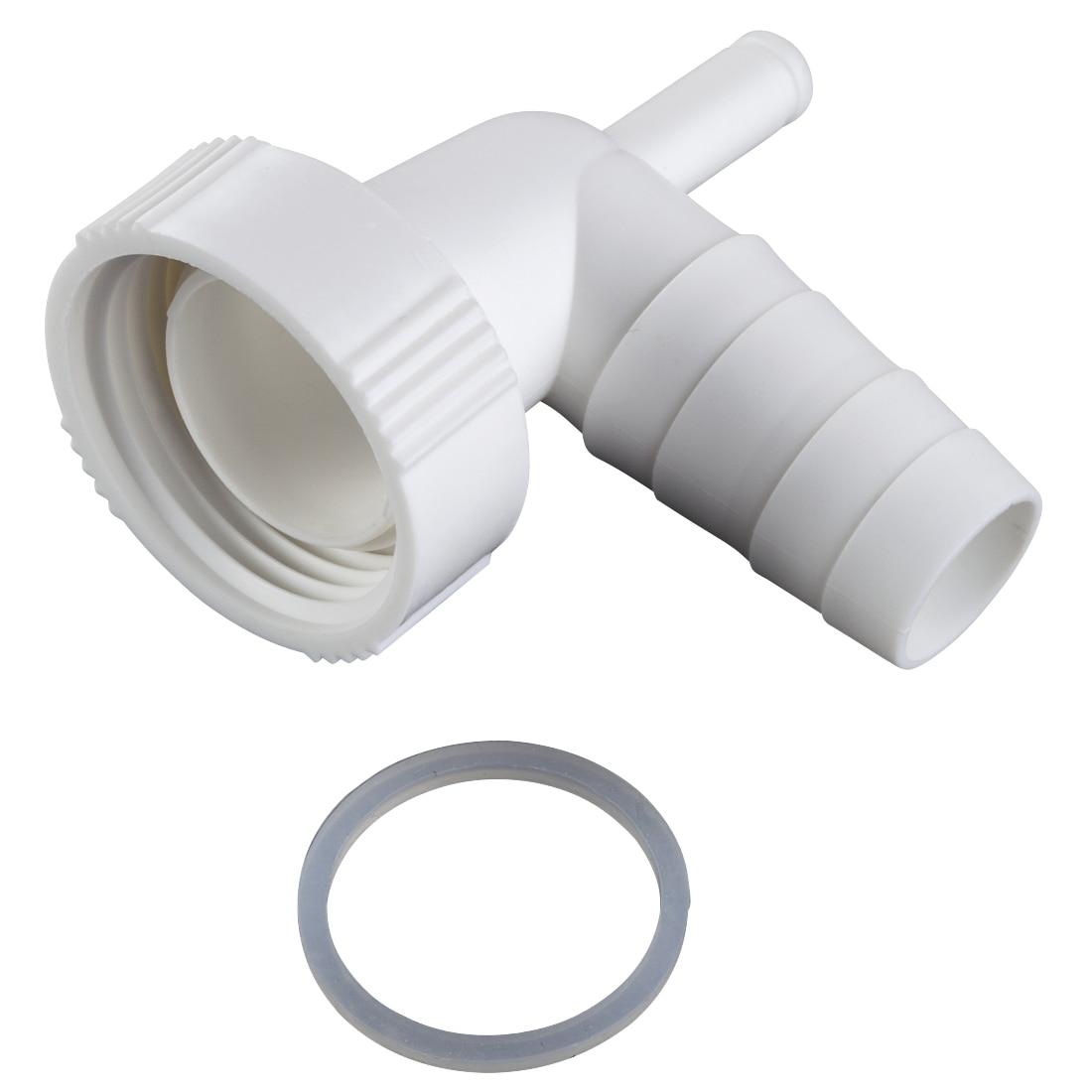 Fotografie Adaptor conexiune furtun evacuare Xavax 111893, Compatibil cu masina de spalat rufe si masina de spalat vase, Conectare la un sifon, Imbinare 1 inch,