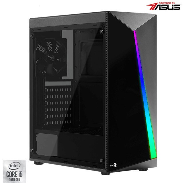 Fotografie Sistem Desktop PC Gaming Serioux Powered by ASUS cu procesor Intel® Core™ i5-10400F pana la 4.30GHz, 16GB DDR4, 512GB SSD, GeForce® GTX 1660 Super™ 6GB GDDR6, No OS