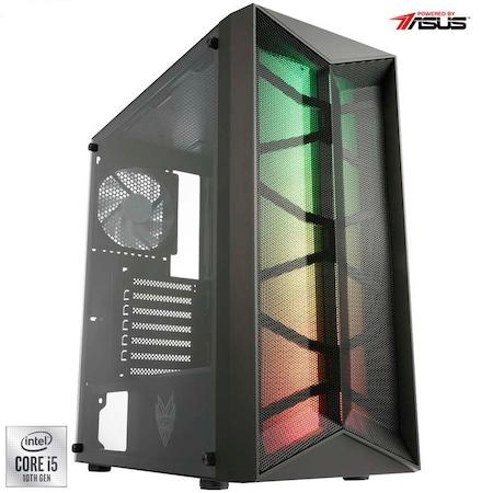 Sistem Desktop PC Gaming Serioux Powered by ASUS cu procesor Intel® Core™ i5-10400F pana la 4.30GHz, 16GB DDR4, 512GB SSD, GeForce® GTX 1650 4GB GDDR6, No OS