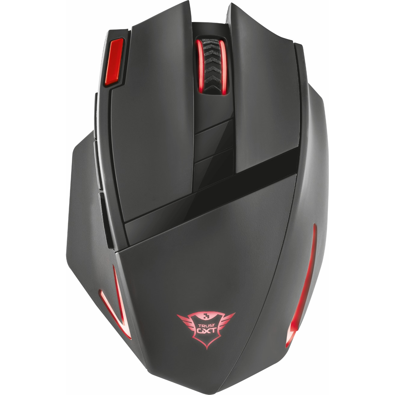 Fotografie Mouse Gaming Trust GXT 130, Wireless, USB 2.0, Negru