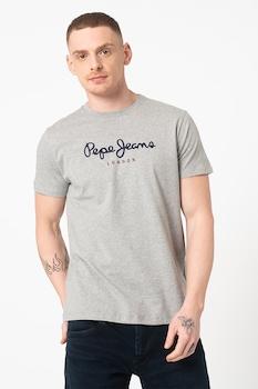 Pepe Jeans London, Eggo logómintás pamutpóló, Melange szürke