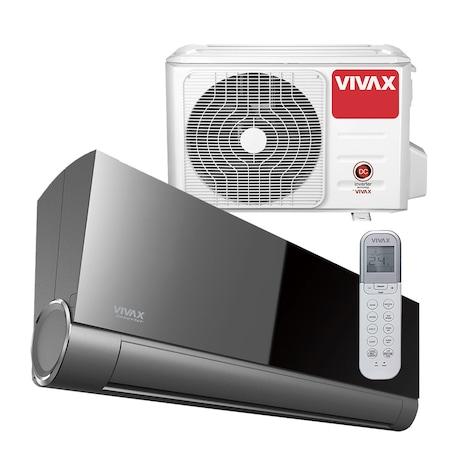 Aer conditionat Vivax ACP-18CH50AEVI GREY MIRROR V-Design R32, Wi-Fi Ready, Inverter, 18000 BTU/h, Clasa A++, Ionizator, I feel, 3D Airflow, Protectie Anti-Inghet, Autodiagnoza, Autocuratare, Autodetectie scurgeri freon, filtru Bio, filtru Anti-Praf
