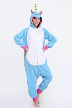 Onesie Kigurumi pizsama, Egyszarvú Kék