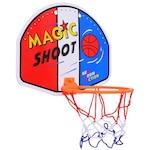 Комплект баскетболен кош и топка 6885, Многоцветен