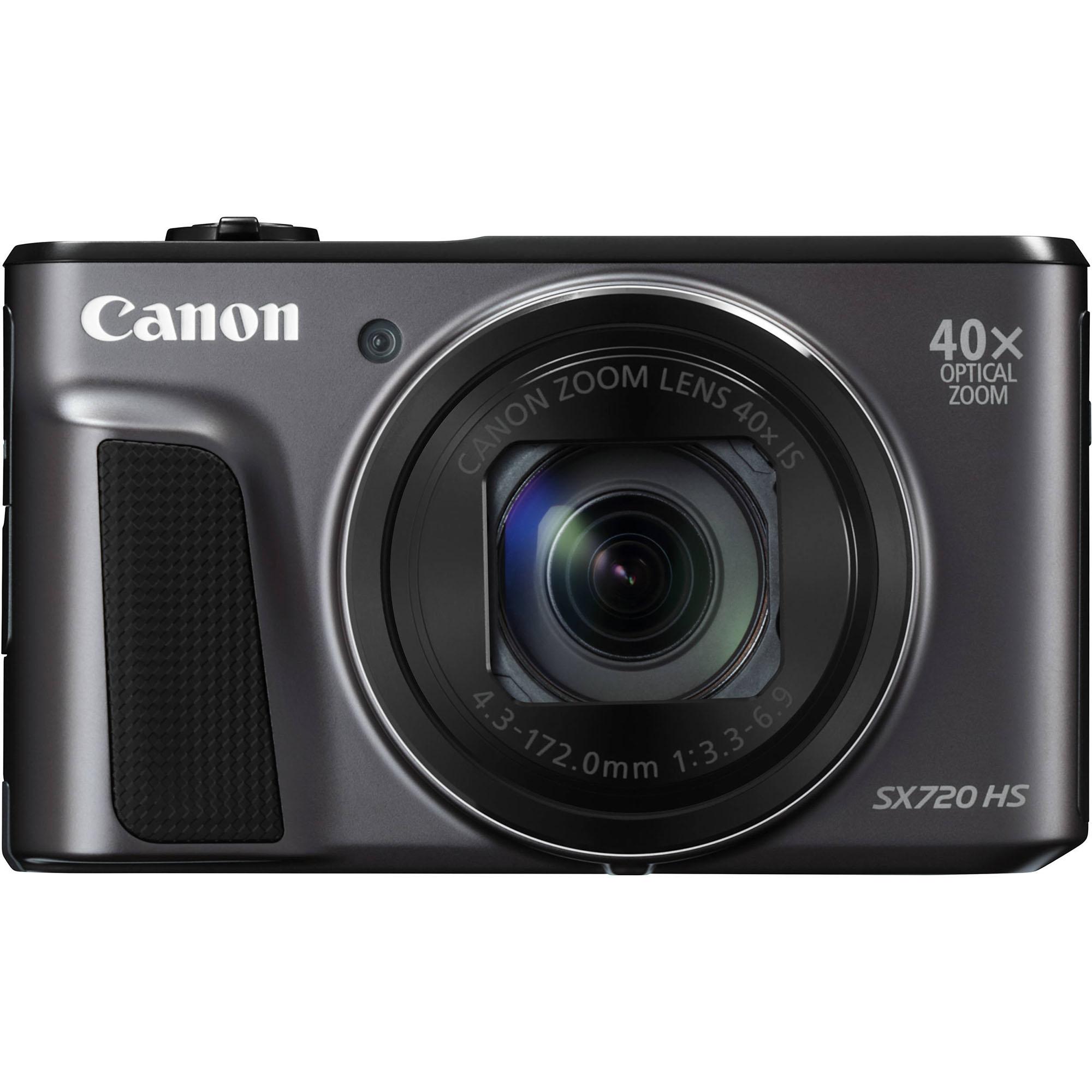 Fotografie Aparat foto digital Canon PowerShot SX720 HS, 20.3MP, Black