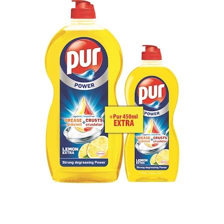 Почистващ препарат за съдове Pur Lemon, 1.35 л + 450 мл