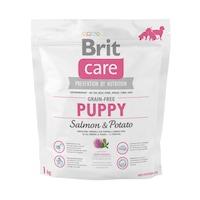 Суха храна за кучета Brit Care, Grain-free, Puppy, Сьомга & Картофи, 1 кг