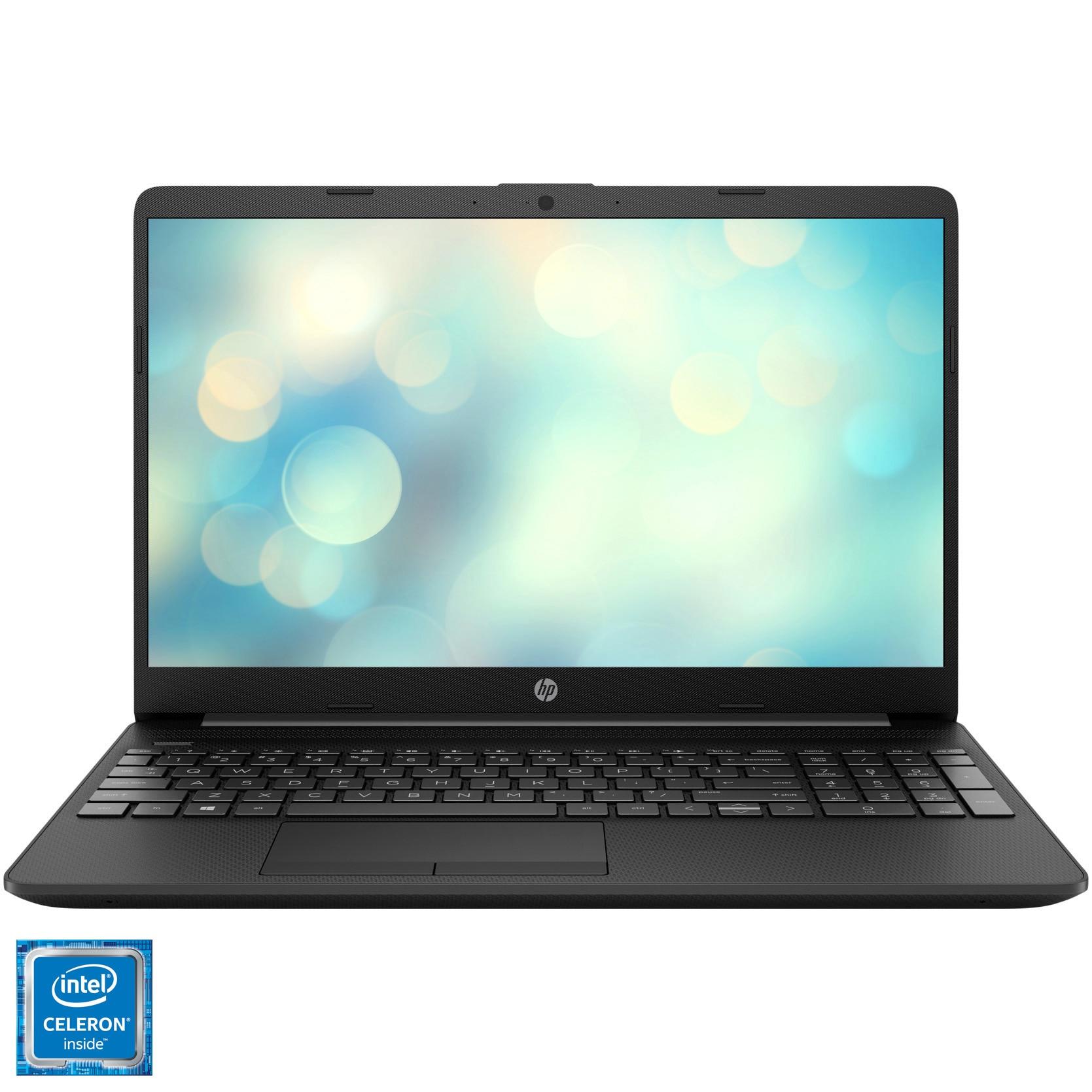 "Fotografie Laptop HP 15-dw1018nq cu procesor Intel Celeron N4020 pana la 2.80 GHz, 15.6"", HD, 4GB, 256GB SSD, Intel UHD Graphics, Free DOS, Jet Black"