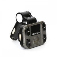 Omega F28 autós bluetooth kihangosító + FM Transmitter, BT V2.1+EDR, LCD kijelző, USB, MicroSD, mikrofon