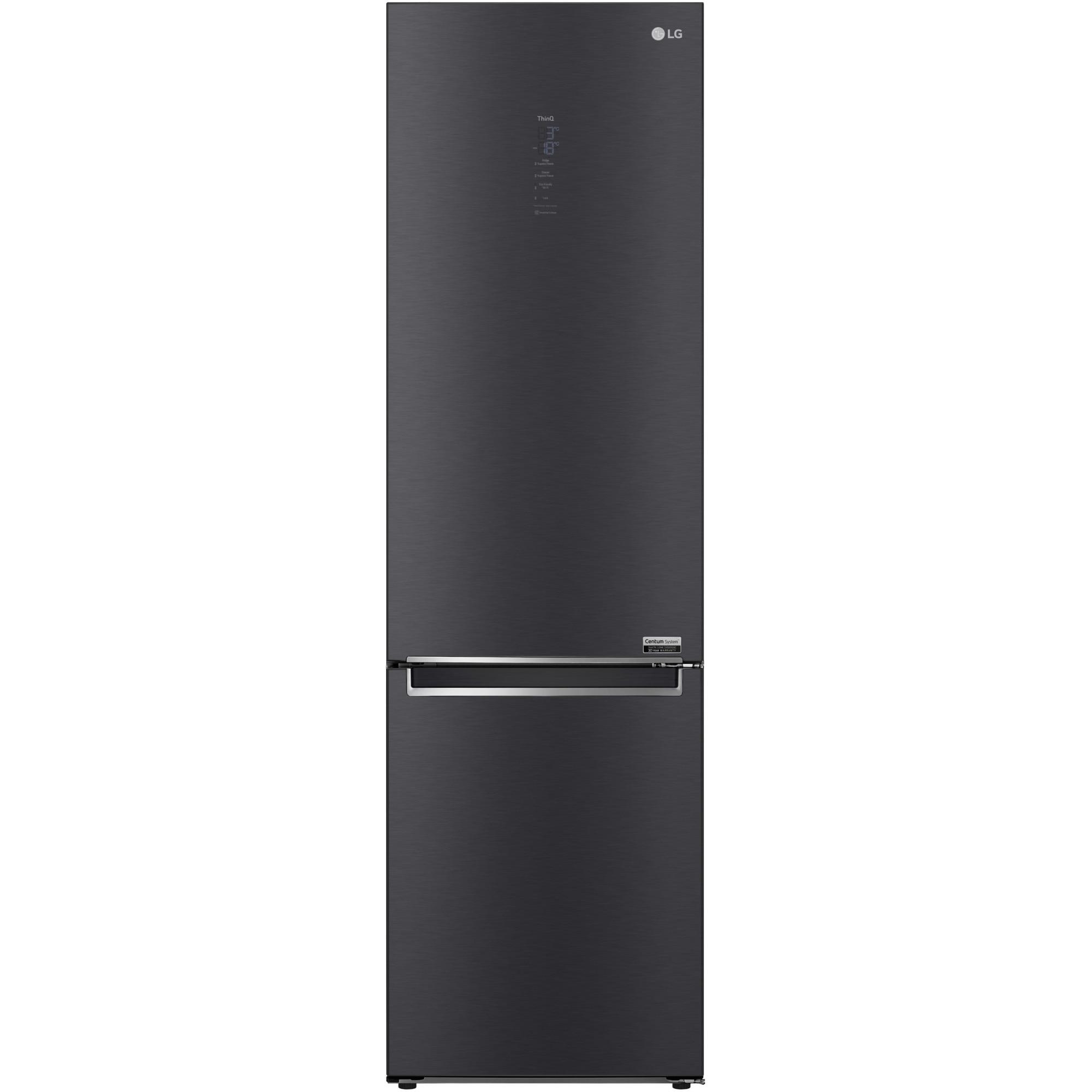 Fotografie Combina frigorifica LG GBB92MCACP, 384 l, Clasa C, No Frost, Smart Diagnosis, Wi-Fi, H 203 cm, Negru