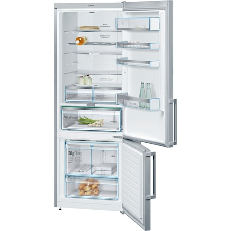 Хладилник с фризер Bosch KGN56AI30, 505 л, No Frost, Клас A++, VitaFresh, LED светлина, WiFi Ready, H 193 см, Inox