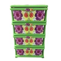 4 fiókos univerzális szekrény , zöld