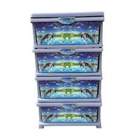 4 fiókos univerzális szekrény , kék
