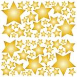 Csillagok 2 Dekorációs falmatrica, 2 lap 30cm x 60cm