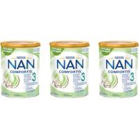 Formula de lapte praf Nestle NAN 3 Comfortis, 3x800 g, de la 12 luni