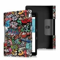 Lenovo Yoga Smart 10.1 (YT-X705F) / (YT-X705L) Tok álló, bőr aktív flip tok, kitámasztható, graffiti minta, színes