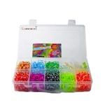 Set creativ pentru copii - Accesorii pentru realizarea bratarilor din elastic 1400 piese,Nebunici, Multicolor