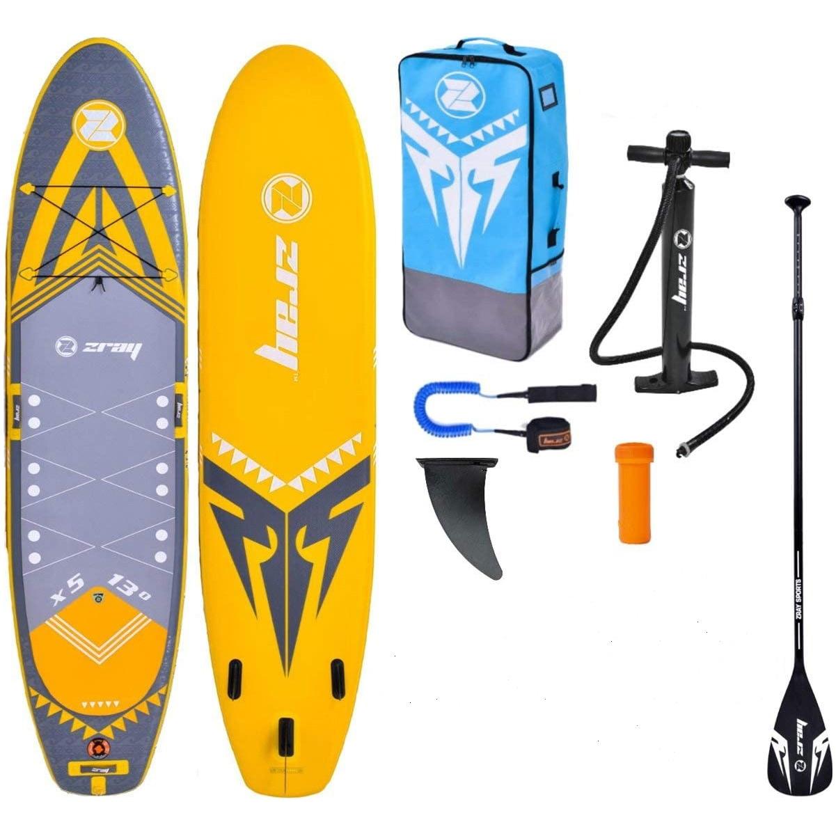 "Fotografie Set placa gonflabila Stand Up PaddleBoard Z-RAY X-Rider X5 XL 13"", camera dubla, 396*91*15 cm, cu pompa si sac pentru transport incluse"