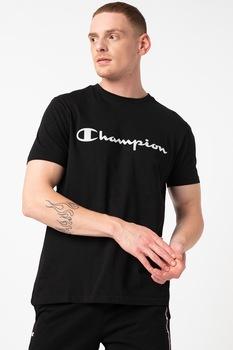 Champion, Kerek nyakú póló nagyméretű logóval, Fekete