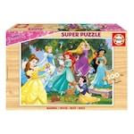 Дървен пъзел Educa - Disney Princess, 100 части