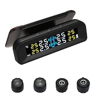 Sistem monitorizare presiune aer anvelope Techone® C260e, senzori externi, ecran color, montare parbriz, incarcare solara si micro USB, auto OFF, negru