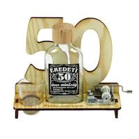 50. Születésnapra pálinkás zenélő szett 0,1l