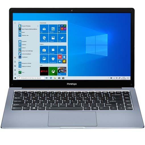 "Fotografie Laptop ultraportabil Prestigio SmartBook 133 C4 cu procesor AMD A4-9120e pana la 2.20 GHz, 14.1"", HD, 4GB, 64GB eMMC, AMD Radeon R3, Windows 10 Pro, Dark Grey"
