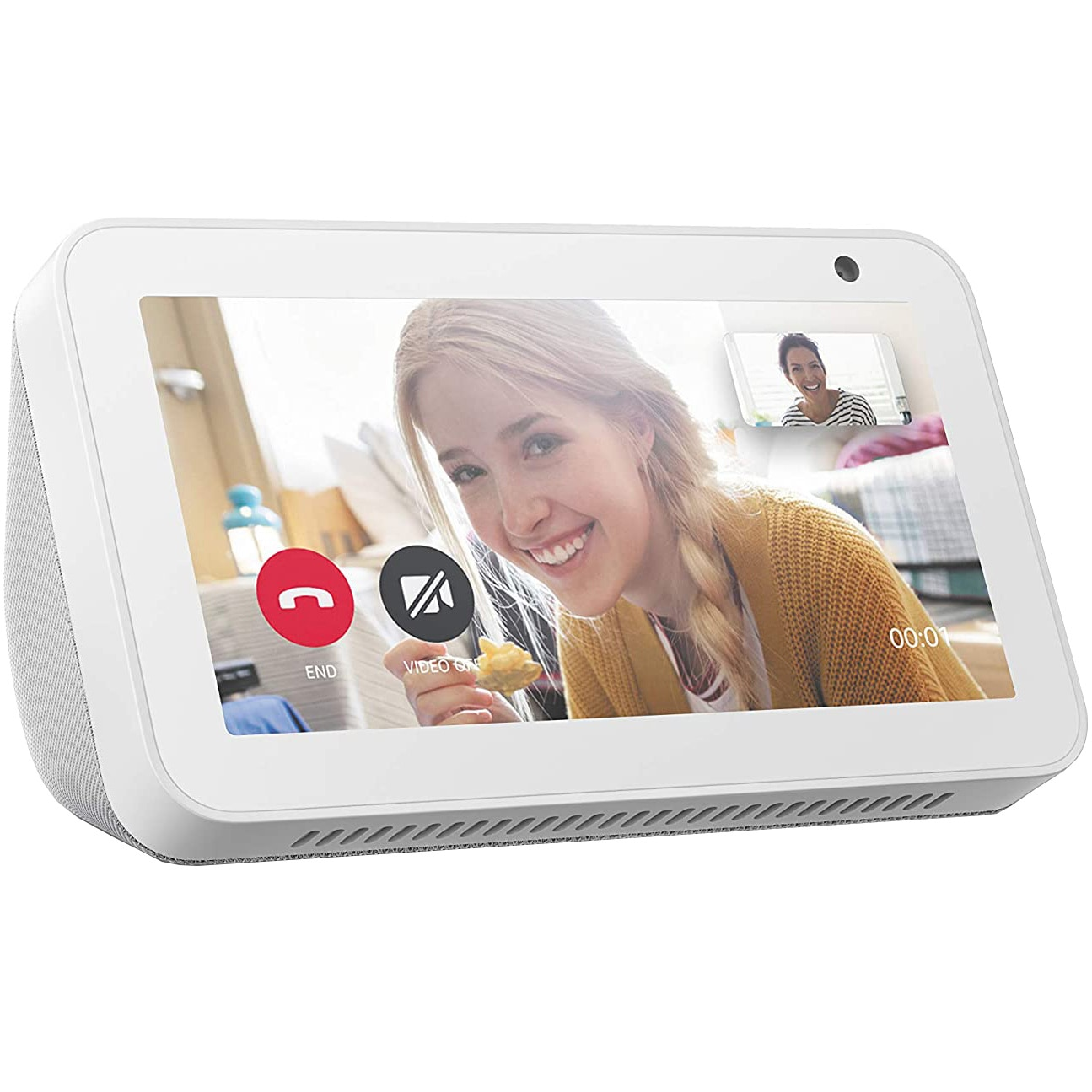 "Fotografie Boxa inteligenta Amazon Echo Show 5, Touchscreen 5.5"", Camera 1MP, 4W, Wi-Fi, Microfon, Alb"