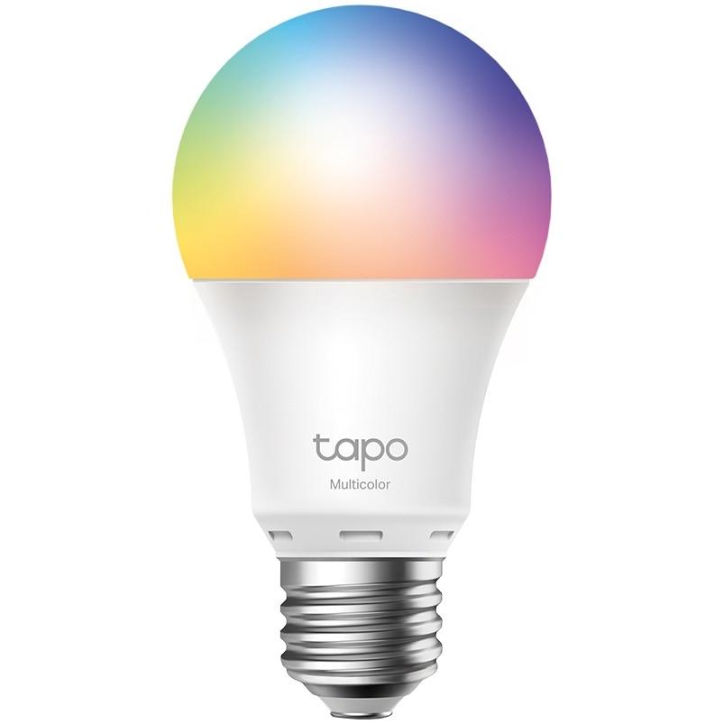 Fotografie Bec Wi-Fi inteligent TP-Link Tapo L530E, Multicolor, Wi-Fi 2.4GHz, 806 Lumeni, E27, Presetare in functie de nevoi, Program si timer, Mod Rasarit/Apus, Control vocal, Control de la distanță, Mod Away