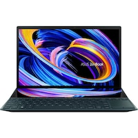 "Laptop ultraportabil ASUS ZenBook Duo 14 UX482EA cu procesor Intel® Core™ i5-1135G7 pana la 4.20 GHz, 14"", Full HD, Touch, 8GB, 1TB SSD, Intel® Iris Xe Graphics, Windows 10 Pro, Celestial Blue"