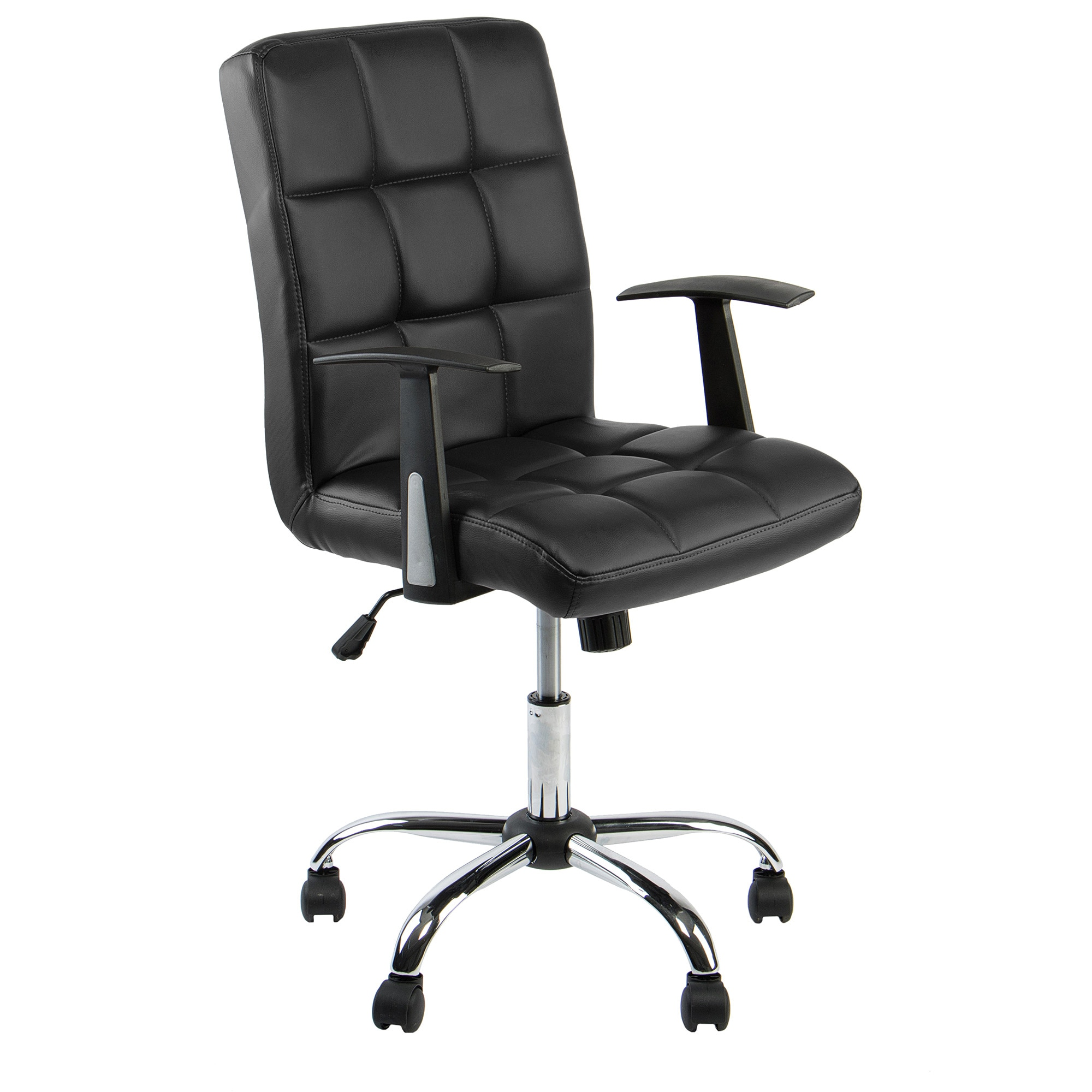 Fotografie Scaun de birou ergonomic, Kring Windsor, piele ecologica, negru