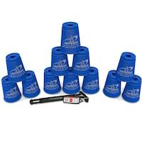 Speedstacks Sportpoharak, 12 db tartószárral , Kék