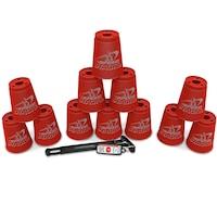 Speedstacks Sportpoharak, 12 db tartószárral , Piros