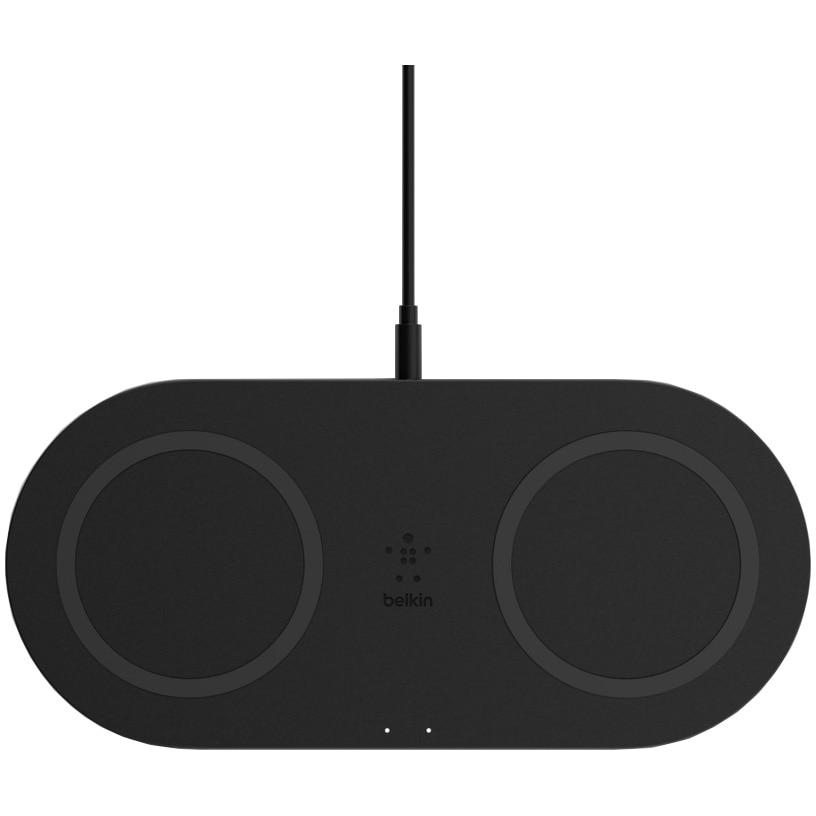 Fotografie Incarcator wireless dual Belkin, 15W, Black