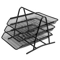 Felis Irodai polcok, 3 db, 35x27x27cm, csúszó polc, fém, fekete