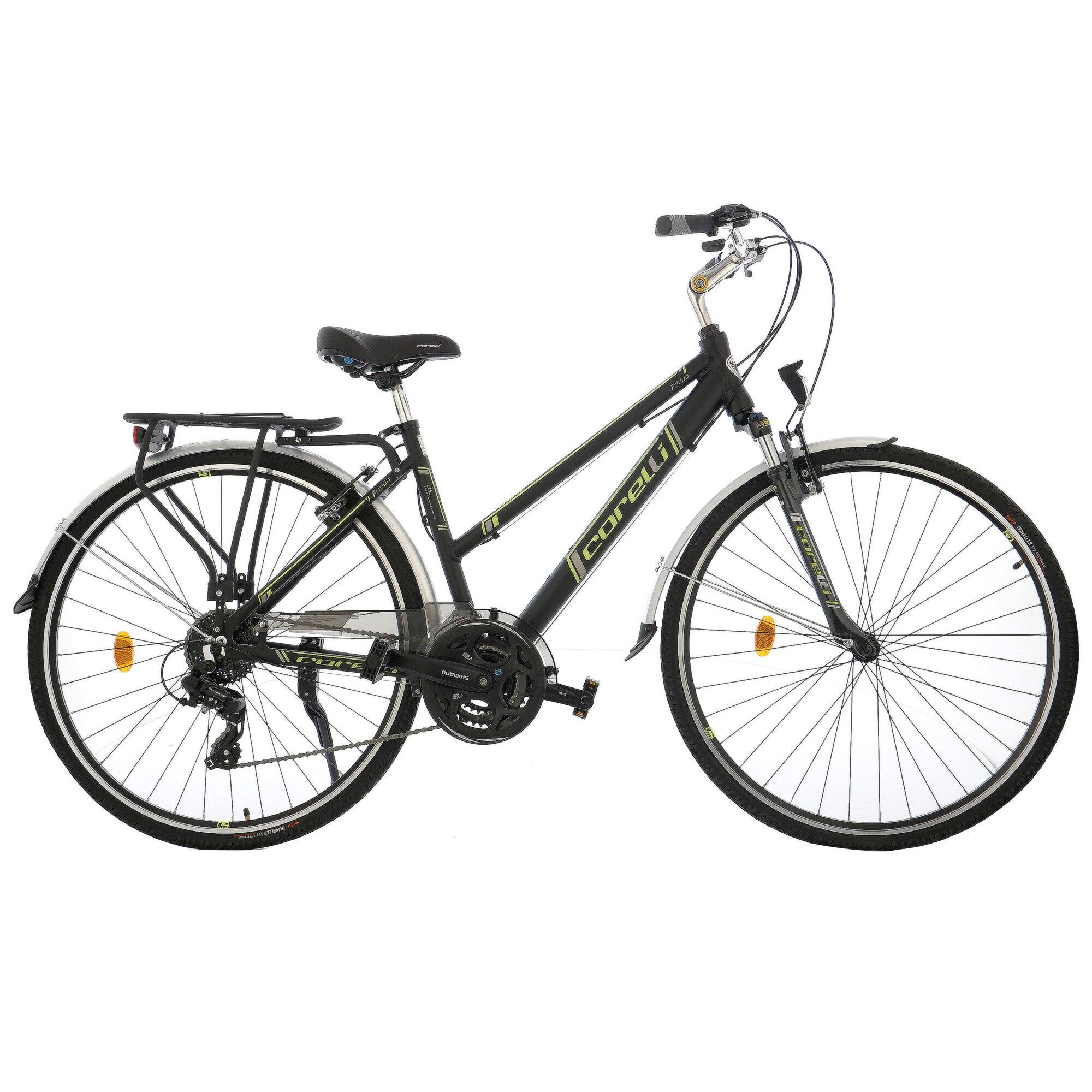 """Fotografie Bicicleta City dama 28"""" Corelli FRIEDA, 24 viteze, culoare verde-gri"""