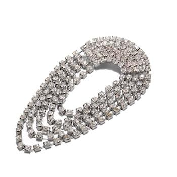 Brosa argintie, cu pietre, Melli C7