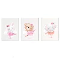 3 festmény készlet a gyerekszobához, Állatok 44, Digital Ascend, MDF keret 30x20cm, biztonságos plexi üveg