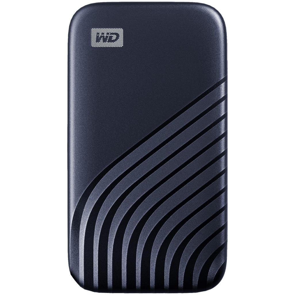 Fotografie SSD Extern WD My Passport™ 500GB, USB 3.2 Gen2 Type-C/A, NVMe, Midnight Blue