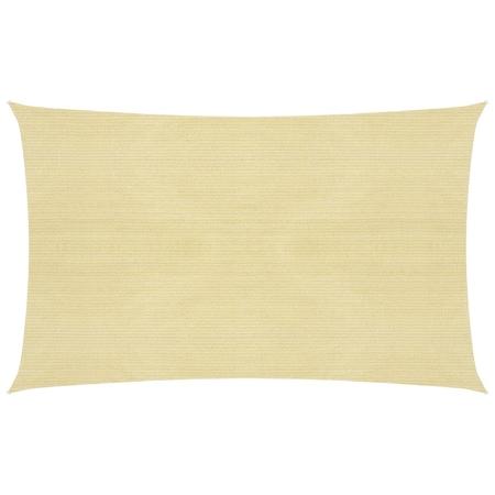 vidaXL bézs HDPE napvitorla 160 g/m² 2 x 5 m