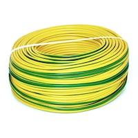 Conductor Electric FY (Cupru Masiv) 2.5mm, Rola 10 metri, Verde Galben