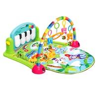 Активна бебешка гимнастика EmonaMall W3732, С пиано, Многоцветен/Зелен