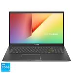 "Laptop ASUS VivoBook 15 K513EA cu procesor Intel® Core™ i3-1115G4 pana la 4.10 GHz, 15.6"", Full HD, 8GB, 256GB SSD, Intel® UHD Graphics, Endless OS, Indie Black"