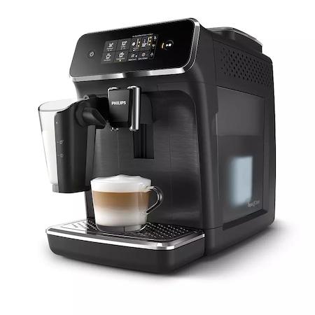 Philips Series 2200 EP2232/40 LatteGo automata kávégép, 1500W, 1.8L víztartály, 15 bar, LatteGo tejhabosítóval