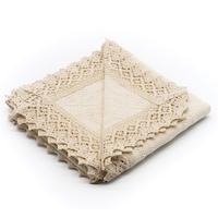 Fata de masa traditionala crem patrata 75x75 cm